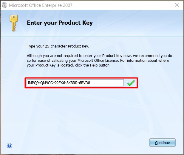 microsoft office 2007 setup with serial key